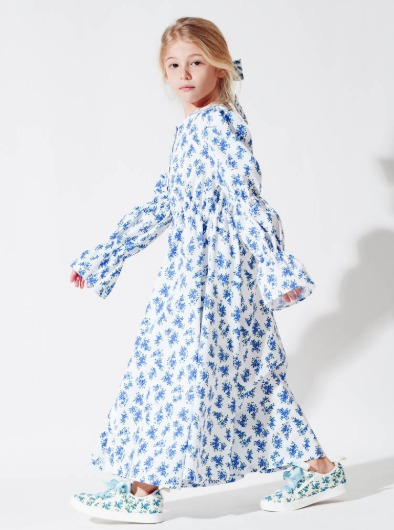 #BlueRoseGarden Dress Coat
