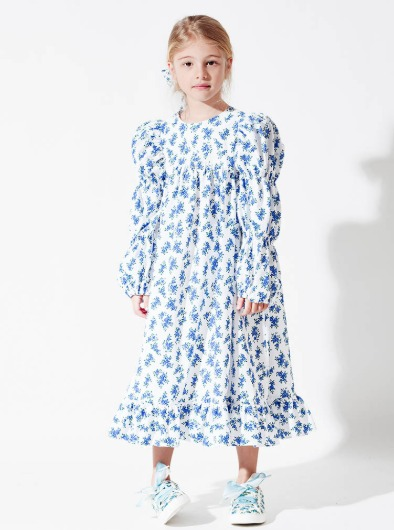 #BlueRoseGarden Puff Dress