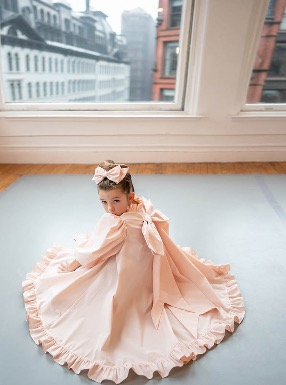 #BallerinaDressCoat - Peach Pink